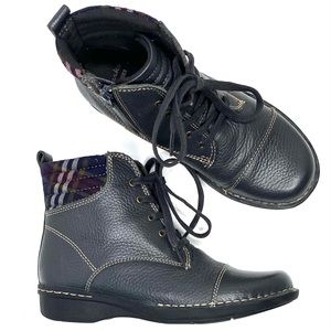 Clarks Whistle Bea Leather Lace-up Boots